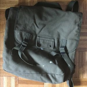 Unisex Army book bag very cool hipster.